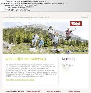 Presse-Newsletter Tirol