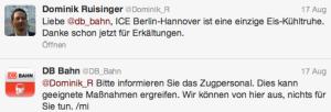 Twitter-Servicekanal der Deutschen Bahn db_bahn
