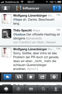Tweet von den PR Report Awards 2013