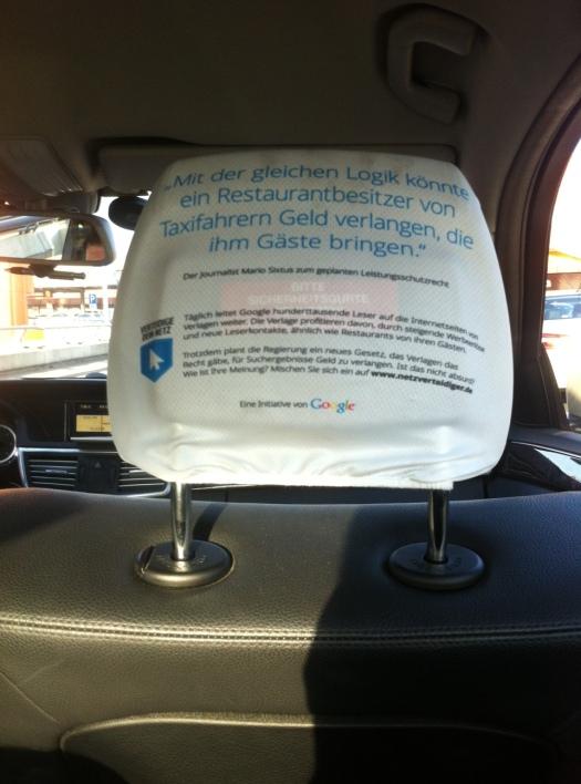 Berliner Taxifahrer gegen das Leistungsschutzrecht