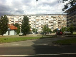 Zahlreiche Hochhaussiedlung am Zentrum von Zagreb