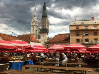 Bauernmarkt in Zagreb, Kroatien