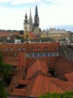 Blick auf Stadt Zagreb