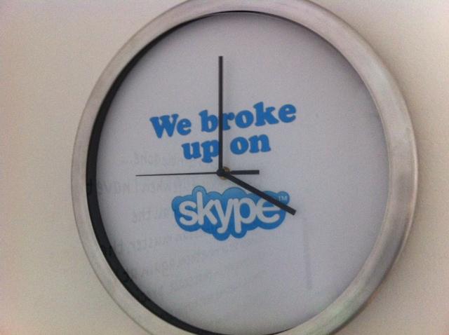 Skype in the museum of broken relationships in croatia